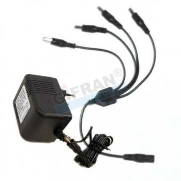 Alimentatore 4 uscite per telecamere di videosorveglianza