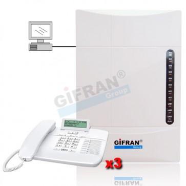 Kit centralino telefonico 8 Interni professionale configurazione da pc e messaggi in formato mp3