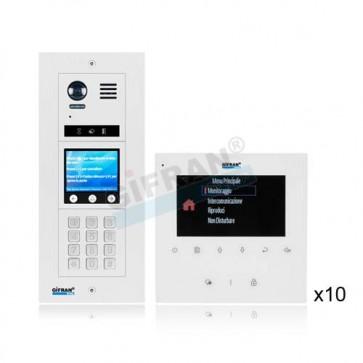 kit videocitofono per grandi e piccoli condimini collegamento 2 fili