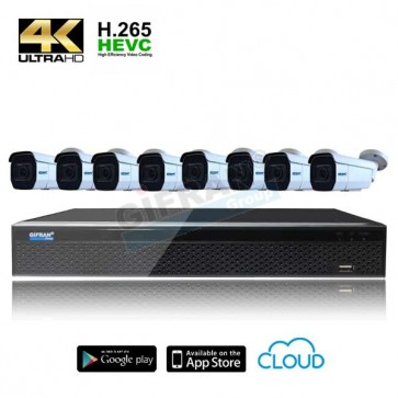 Kit videosorveglianza 8 telecamere 4k motorizzate