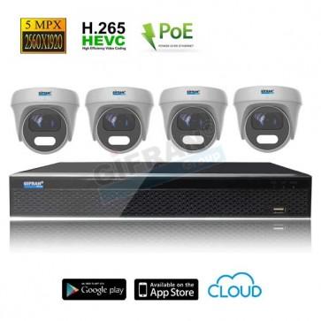 Videosorveglianza POE 4 telecamere 5MPX