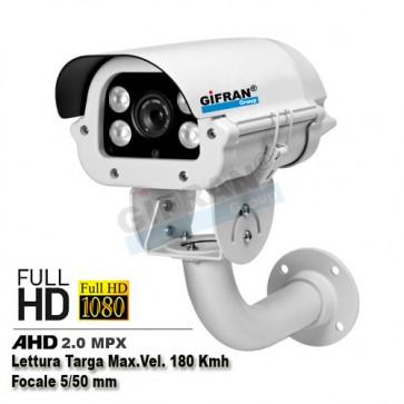 telecamera lettura targa  AHD 180 kmh