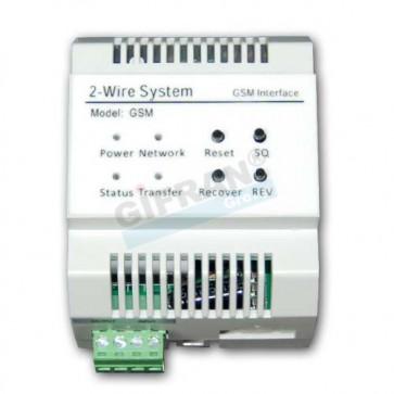 Videocitofono 2 fili modulo GSM su linea BUS per implementazione trasferimento di chiamata e gestione remota.
