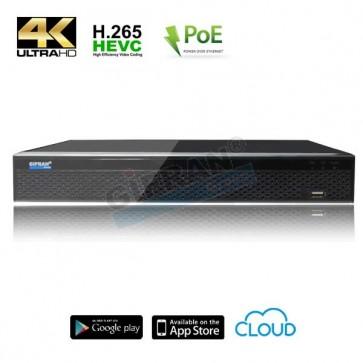 Videosorveglianza NVR IP Professionale 4K 16 canali poe