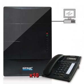 Centralino telefonico completo di 10 telefoni panasonic Kit centralino telefonico professionale