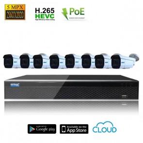 Kit videosorveglianza 8 telecamere POE 5 mpx