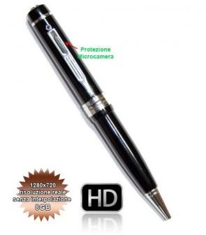 Spy Pen 8GB Penna Spia o SpyPen con microcamera HD, Scatta Foto di 4032x3024 Pixel e Registra Video in 720P reali senza interpolazione 1280*720, e Audio senza essere Notati gazie alla Microtelecamera nascosta. Microcamere professionali per investigazioni