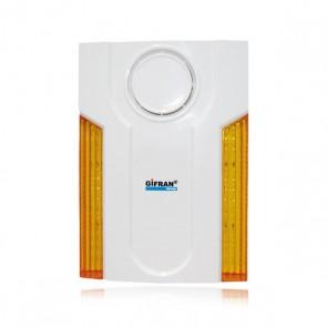 Sirena per antifurto casa senza fili da esterno con batteria tampone, sirena per allarme 868 Mhz bidirezionale con lampeggiante autoalimentata contro i blackout.