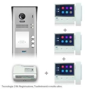kit videocitofono trifamiliare