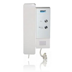 Videocitofoni 2 fili cornetta senza monitor con doppio pulsante apertura e chiamata interfono, da installare su impianto videocitofonico a bus.